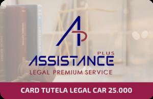 Card Tutela Legal Car 25.000€